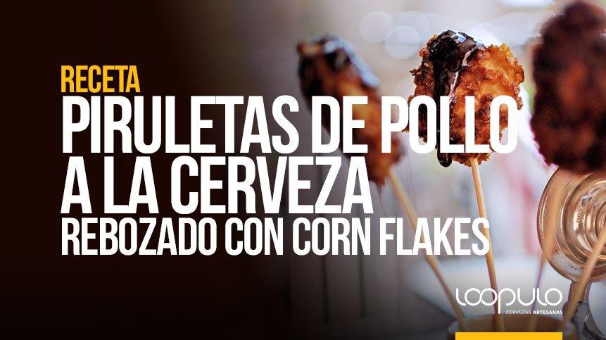 RECETA | Piruletas de pollo rebozado con CORN FLAKES