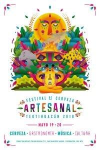 Cartel oficial del Festival de Cerveza Artesanal de Teotihuacán