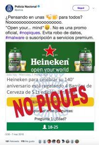 Timo de barriles de Heineken por WhatsApp – Loopulo