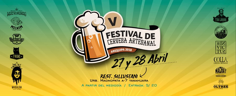 V Feria de la Cerveza Artesanal de Arequipa 2018   PERÚ