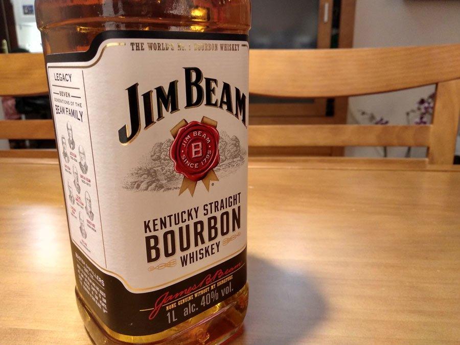 Botella de bourbon Jim Beam – Loopulo