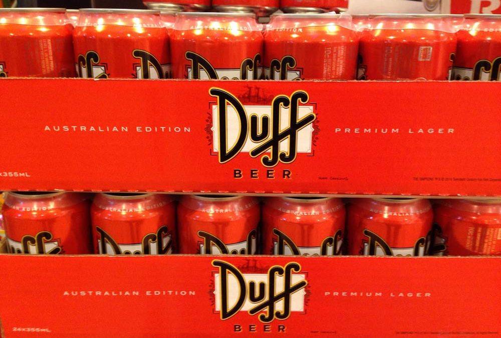Cerveza Duff, la cerveza de los Simpson