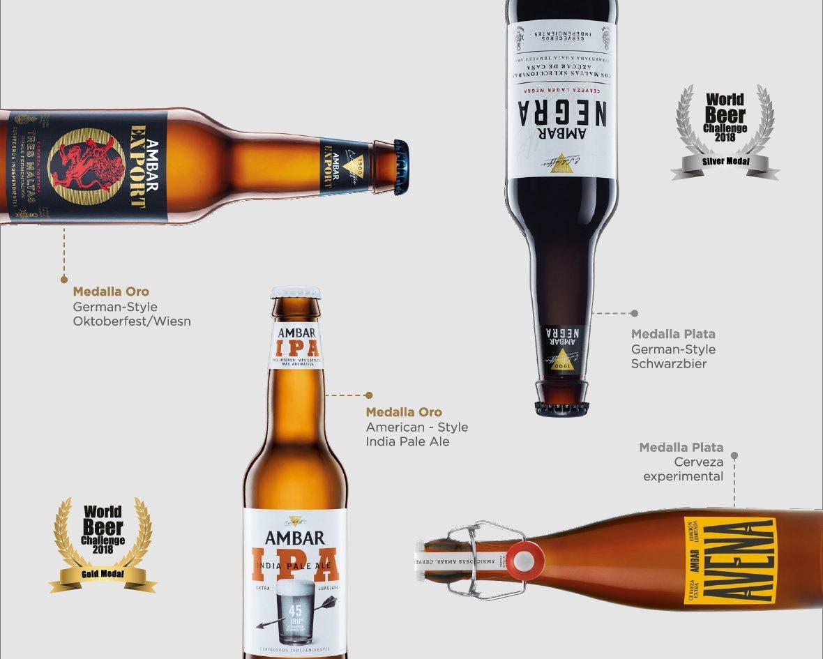 Ambar IPA y Ambar Export medalla de oro en el World Beer Challenge 2018 – Loopulo