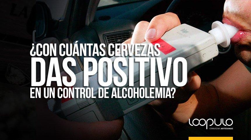 ¿Con cuántas cervezas das positivo en un control de alcoholemia?
