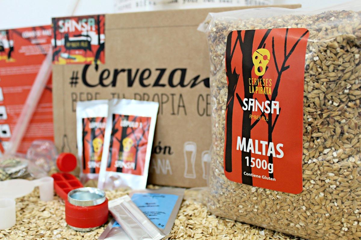 Cervezanía Lanza La Pirata Sansa Amber Ale Kit Y Recarga Loopulo