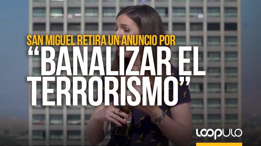 San Miguel retira un anuncio que «banaliza el terrorismo»