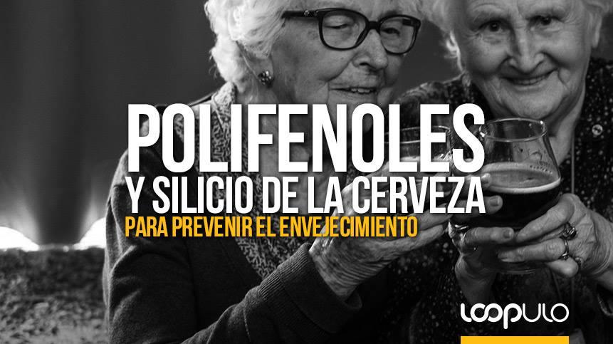 Polifenoles y silicio de la cerveza para prevenir el envejecimiento