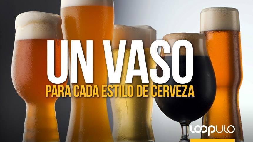 Un vaso para cada estilo de cerveza