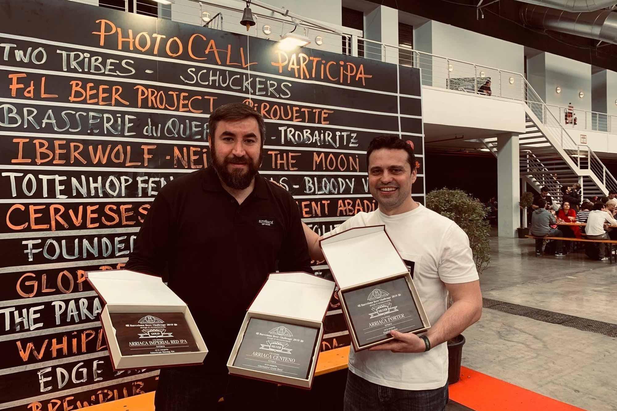 Barcelona Beer Challenge 2019 concede 3 medallas a Arriaca