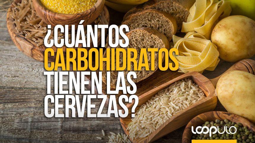 ¿Cuántos carbohidratos tienen las cervezas?