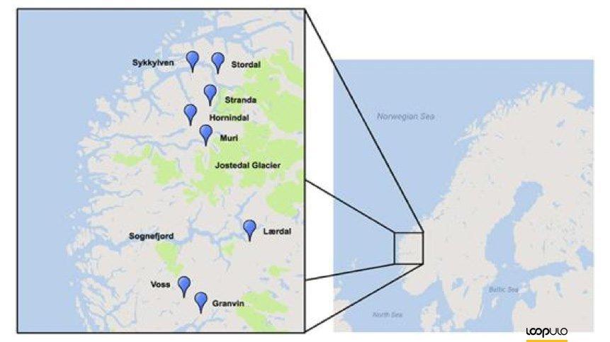 Distribución geográfica de las levaduras Kveik analizadas – Loopulo