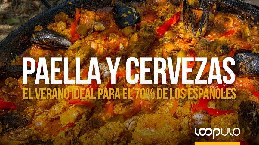 El 70% de los españoles relaciona el verano con paella y cervezas