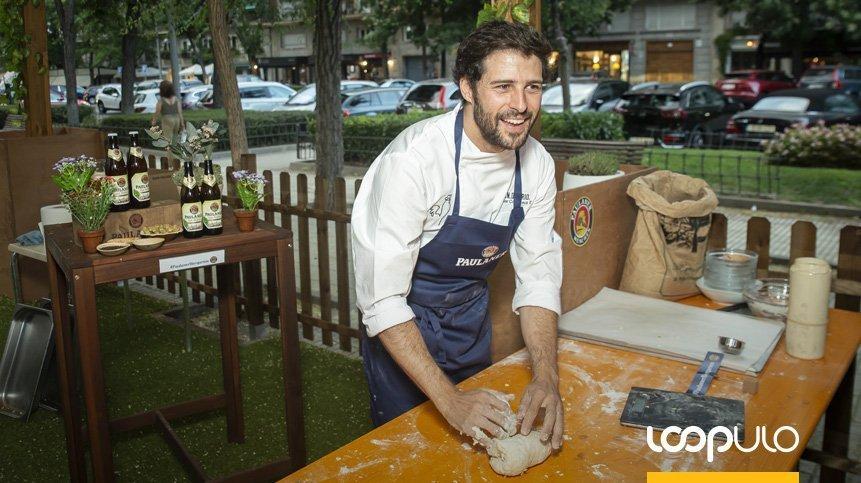 Taller de bretzel en el Paulaner Biergarten de Madrid