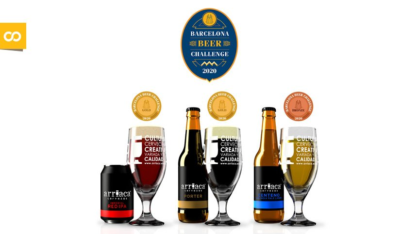 Arriaca repite con tres medallas en el concurso internacional Barcelona Beer Challenge – Loopulo