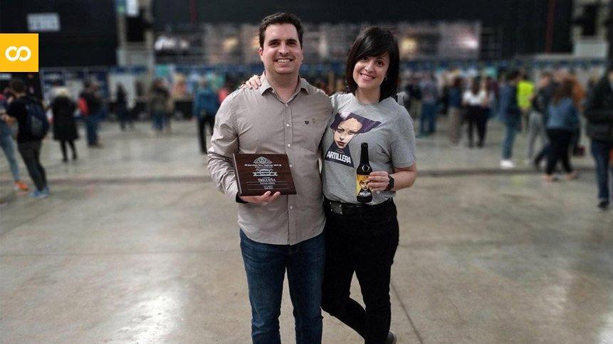 Cervezas Artillera recogiendo el bronce del Barcelona Beer Challenge 2019 – Loopulo