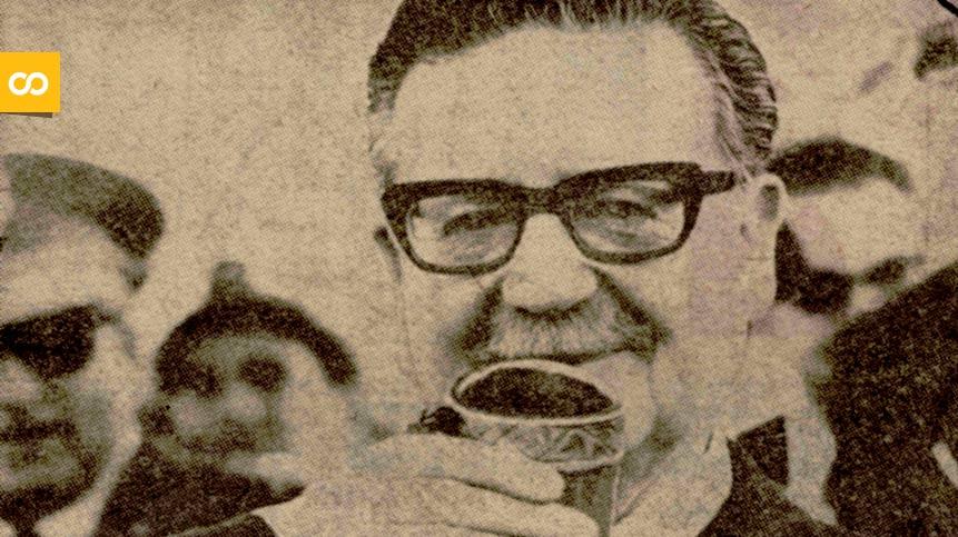 Allende brindando con chicha – Loopulo