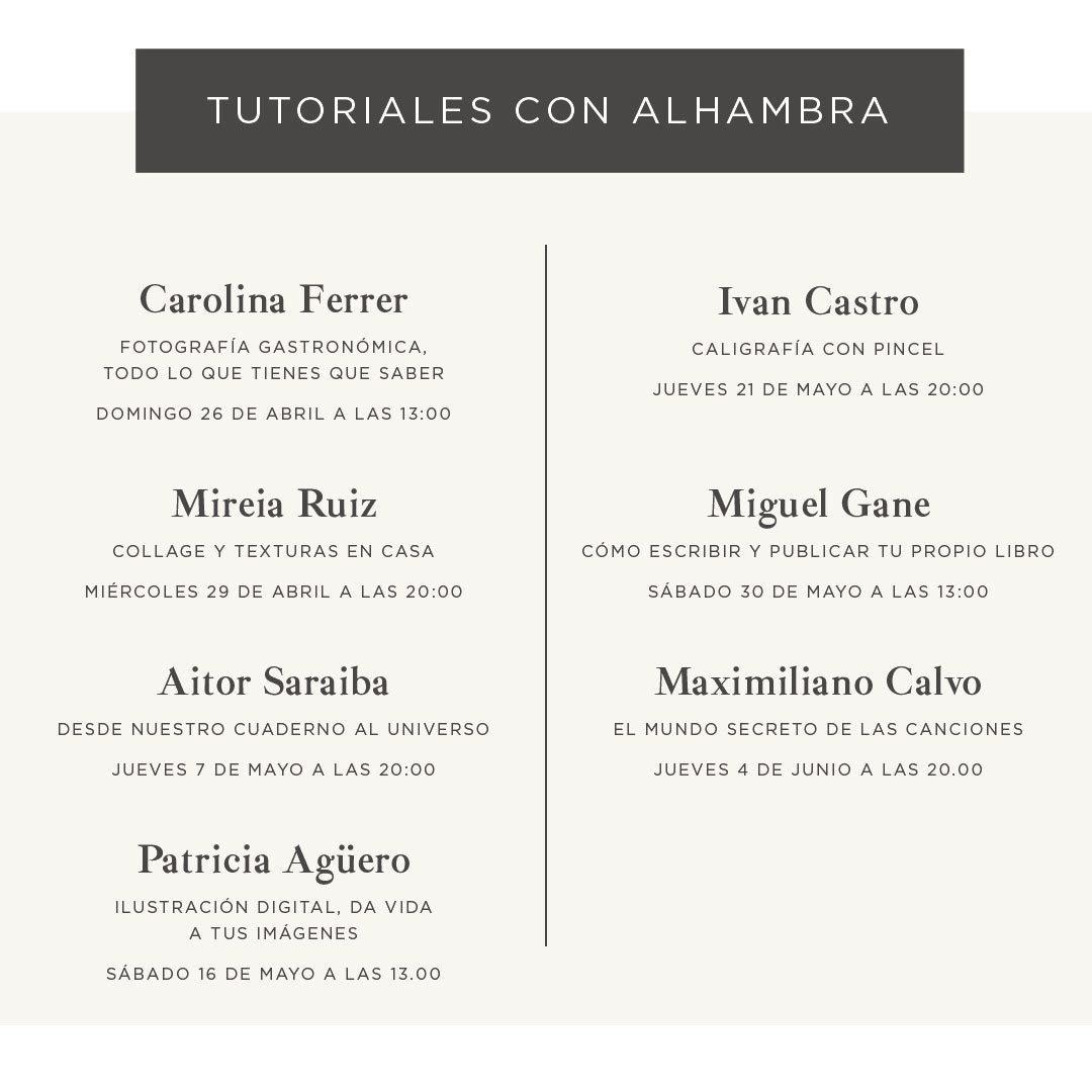 Tutoriales Alhambra: la marca te invita a explorar tu lado creativo | Loopulo