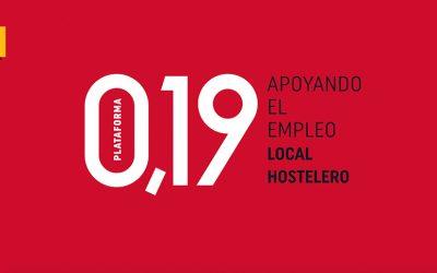 Ambar implusa la Plataforma 0,19 en apoyo al empleo hostelero local