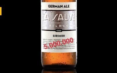 La Salve embotella su cerveza número 5.000.000 y regala cervezas por un año