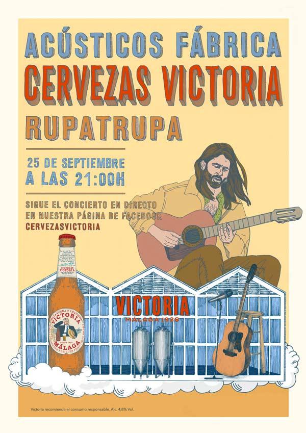 Rupatrupa ofrecerá un concierto acústico vía streaming desde la Fábrica de Cervezas Victoria   Loopulo