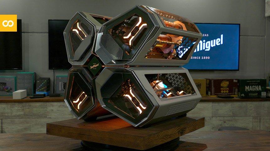 San Miguel crea un ordenador de diseño futurista para gamers | Loopulo