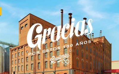 Cerveza Quilmes celebra sus 130 años con un millón de gracias a Argentina