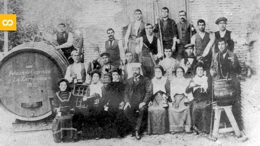 La primera plantilla de La Zaragozana, en 1903 | Loopulo