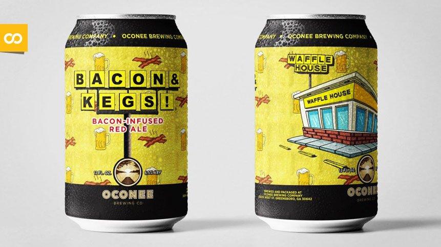 Bacon & Kegs, la cerveza de bacon de Waffle House y Oconee Brewing Co | Loopulo