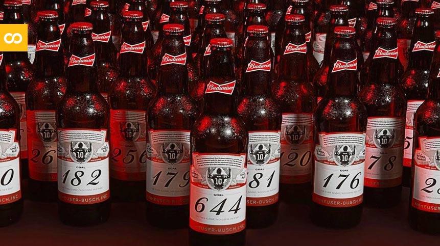 Budweiser celebra el histórico récord de Messi con una edición especial de 644 botellas numeradas - Loopulo