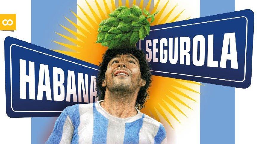Habana y Segurola, la cerveza colaborativa argentina que homenajea a Maradona | Loopulo