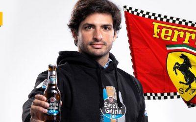 Estrella Galicia 0,0 se une a Ferrari en su nueva apuesta por Carlos Sainz