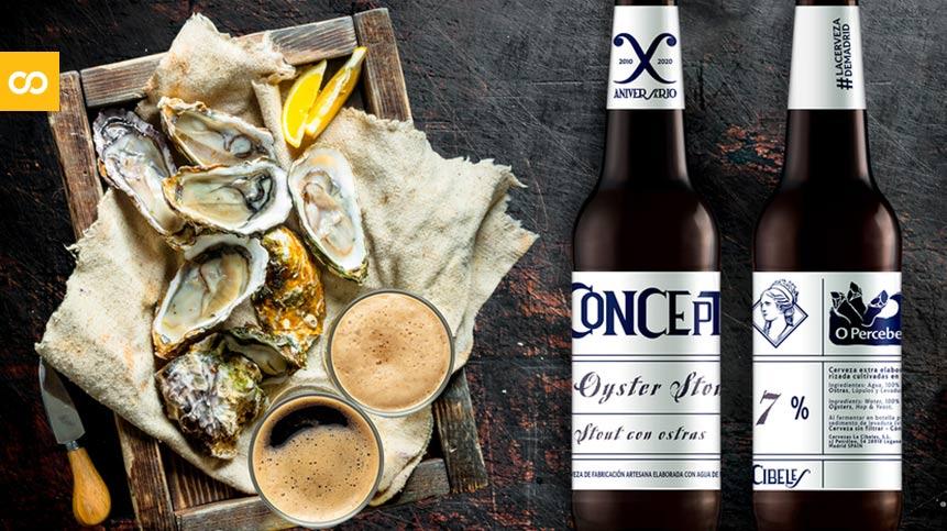 La Cibeles Oyster Stout: la primera cerveza elaborada con ostras y agua de Madrid - Loopulo