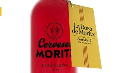 Rosa de Moritz: la marca lanza una cerveza elaborada con pétalos de rosas en homenaje a Sant Jordi y a Barcelona