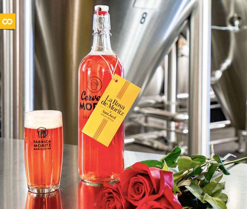 Rosa de Moritz: Moritz lanza una cerveza elaborada con pétalos de rosas en homenaje a Sant Jordi y a Barcelona   Loopulo