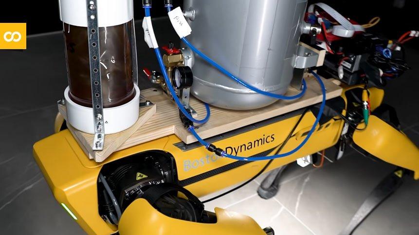 Spot, el 'perro robot de Boston Dynamics' por fin mea cerveza - Loopulo