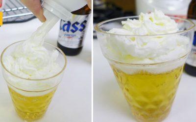 Cerveza con nata, la tendencia que nos llega desde Corea y Japón